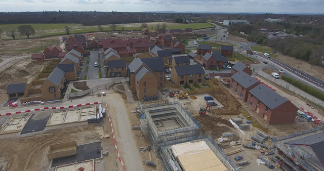 During Property Development Drone Filming April 2020
