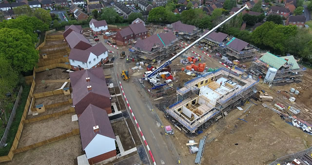 Aerial Photography of New Residential Property
