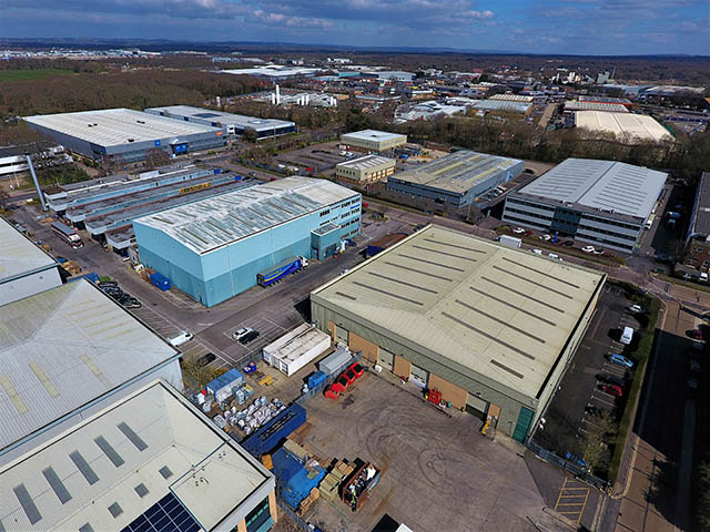 Commercial Industrial Units Drone Photography