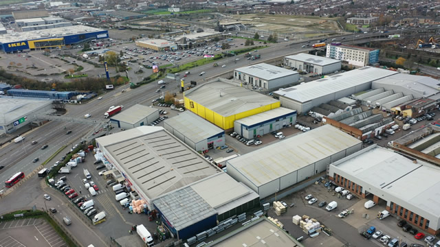 Drone Pictures of an Industrial Estate