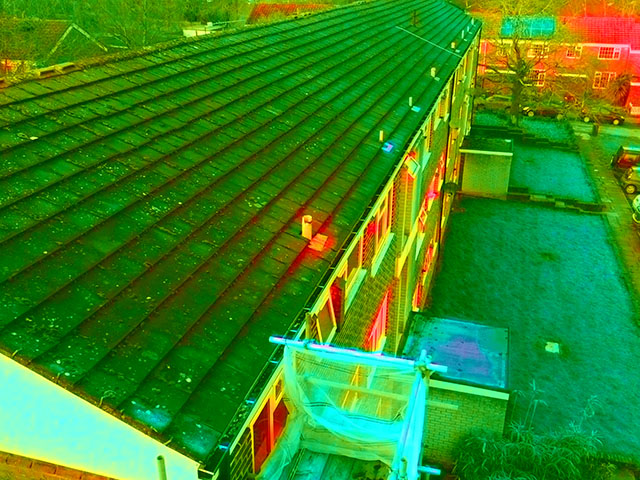 Thermal Image of a Block of Flats